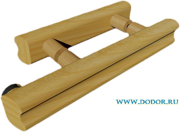 Комплект ручек для банных дверей(комбинированные)дерево дерево