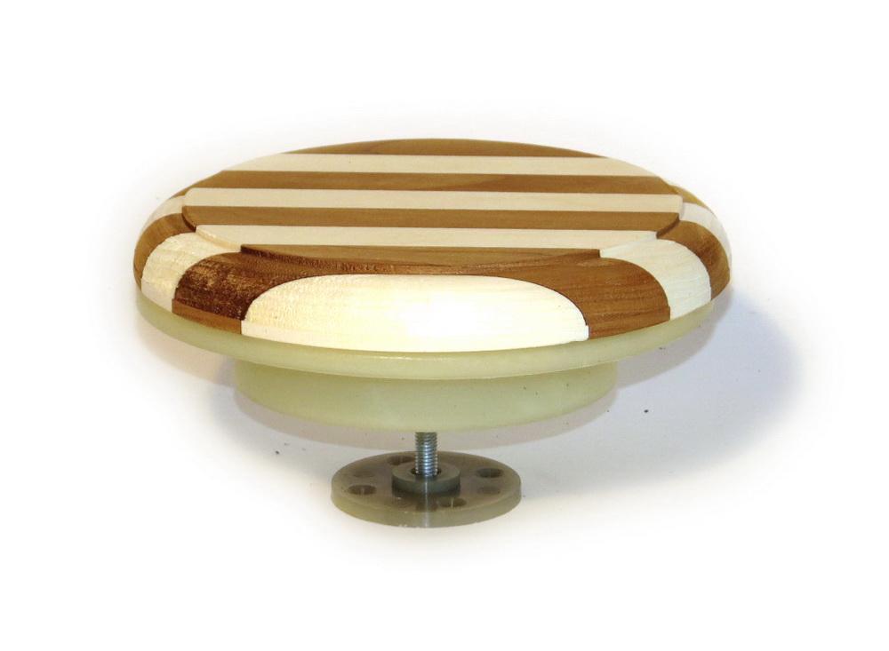 Клапан вентиляционный ф125мм комбинир древесина