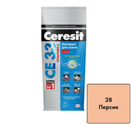 Церезит 33 Затирка Персик 2 кг шов до 5 мм для нар. и внутр. работ /Германия/