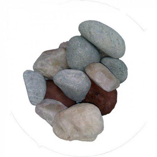 Камни для бани МИКС премиум 15кг.(яшма,кварц,жадеит)