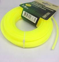 Леска для тримера 3,0мм*15м круг/желтая 28363