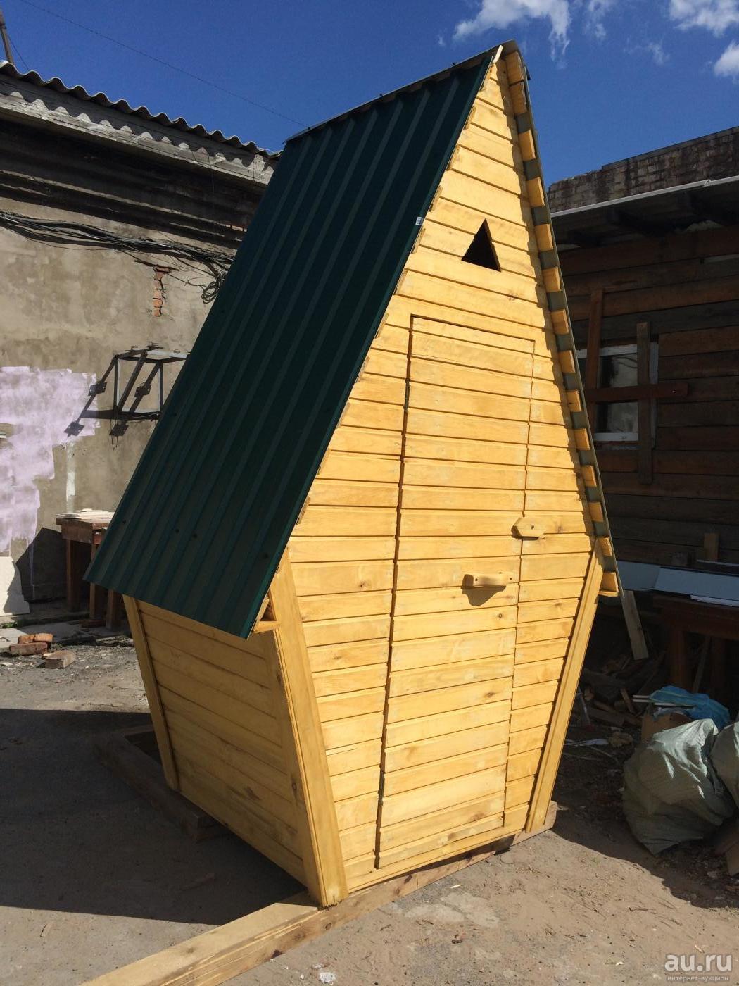 "Туалет ""Домик"" 1000х1200мм  с мягкой крышей"