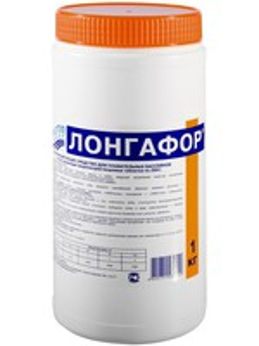 Маркопул Кемиклс/на основе хлора/ Лонгафор/ 1кг банка органический хлор -90%  таб 20гр банка 1 кг