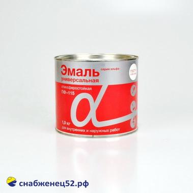 """Эмаль ПФ-115 """"Альфа"""" коричневая 1,9 кг"""