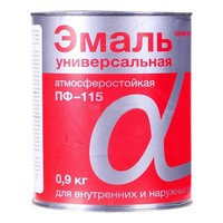 "Эмаль ПФ-115 ""Альфа"" желтая 0,9 кг"