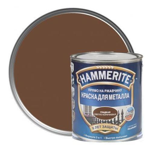 Хаммерайт краска 2,5 л светло-коричневая гладкая