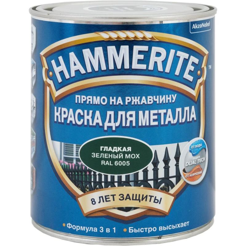 Хаммерайт 0,75 л зеленый мох гладкая