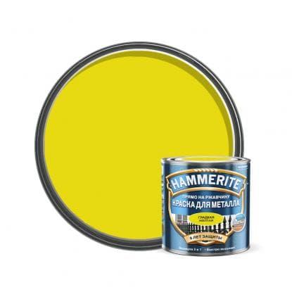 Хаммерайт краска 2,5 л желтая гладкая