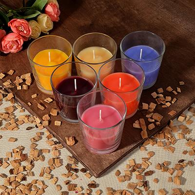Свеча в бокале 8+8 см ароматическая