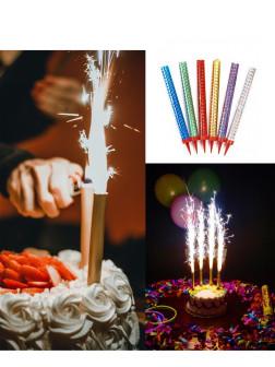 Свеча в торт Фонтан 20см 6шт
