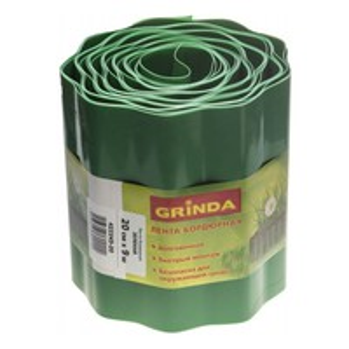 "Лента бордюрная""GRINDA""зеленая 20см*9м 422245-20"