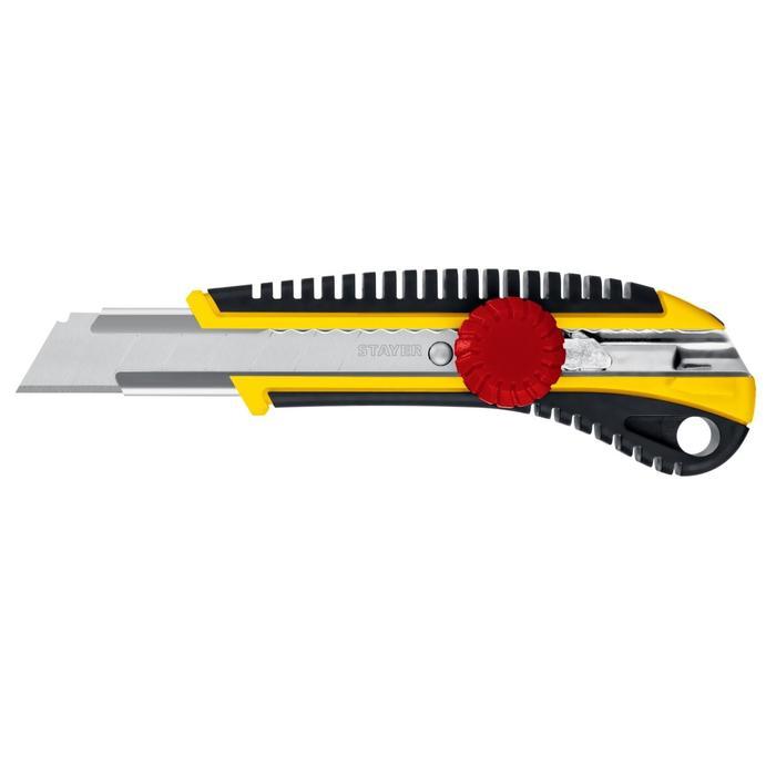 Нож 18 мм с винтовым фиксатором Stayer
