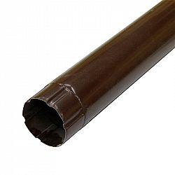 Труба водосточная ф90х1000 мм цветная (коричневая)