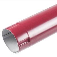 Труба водосточная ф100х1000 мм цветная (красная)
