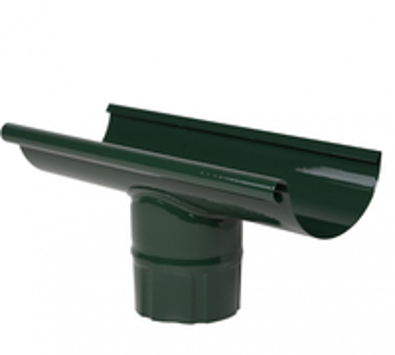 Желоб с выпуском-канадка ф125 проходной зеленый