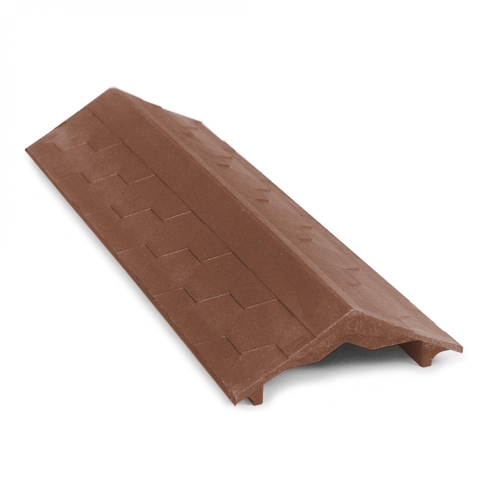 Парапет ППК на забор 500х125х25 коричневый