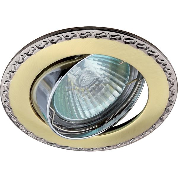 Светильник точ. Lezard MR16 LD-16025Т-1207 сатин/золото/золото