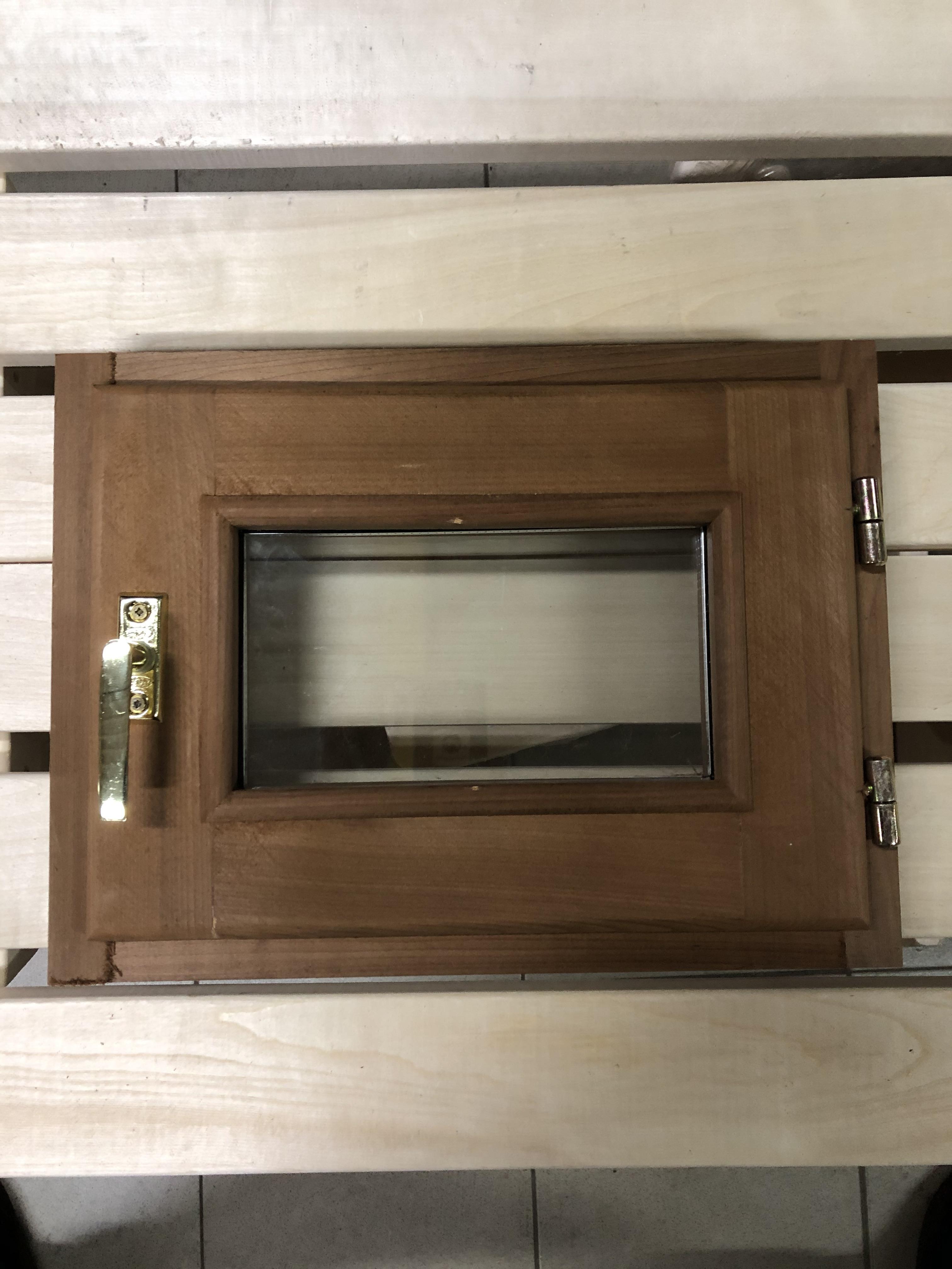 Окно для бани 40х50см липа термо,стеклопакет,стекло