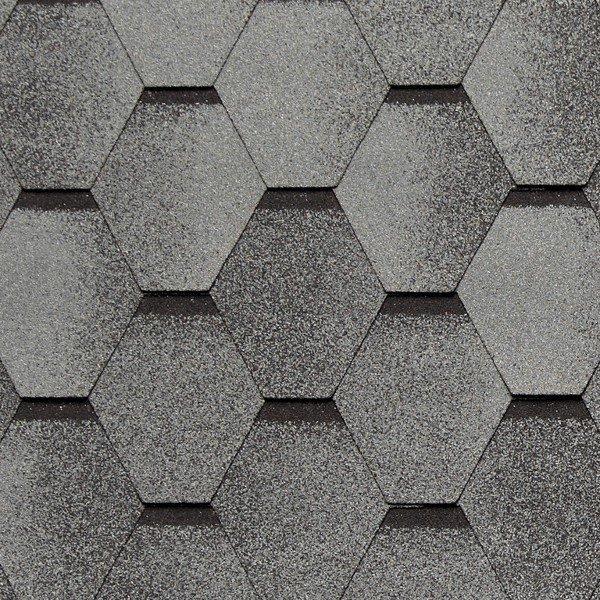 Кровельная плитка Нордик серый 337х1000 мм, 9,4 кг/кв.м (уп. 24 шт. 3,45 кв.м)