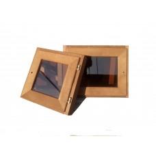 Окно для бани 60х60см липа термо, стеклопакет