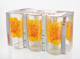 Набор стаканов 6шт  Пионы 878-004