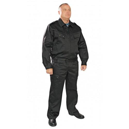 Костюм рабочий с брюками  черный