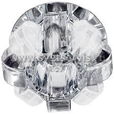Светильник точ.ЭРА DK 31 (СН/WH) хром/прозр.хруст.
