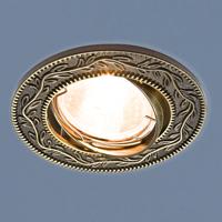 Светильник точ - 713 GU/SL черное/серебро