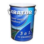 Грунт-эмаль по ржавчине KRAFOR 5,5кг серый