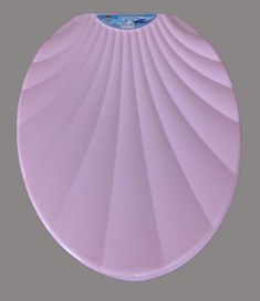 Сиденье для унитаза Ракушка розовое
