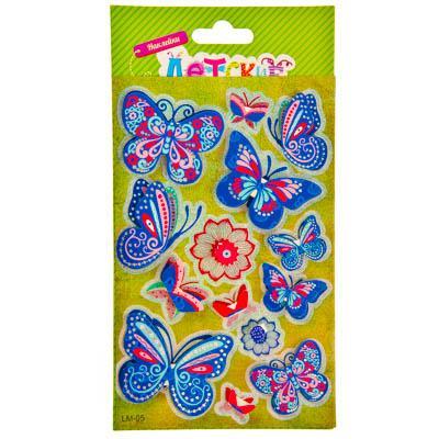 Наклейка Тропические бабочки