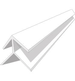Профиль ПВХ Угол наружный 5мм, 3м белый