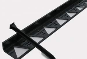 Бордюр садовый пластиковый декоративный черный  60х80х1500 мм  для огражд.садовых дорожек,клумб