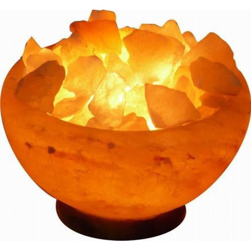 Светильник настол.солевой Огненная ЧАША 15 камней на блюде SLL-12055-15