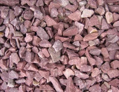 Щебень мрамор кварцит розовый 5-20