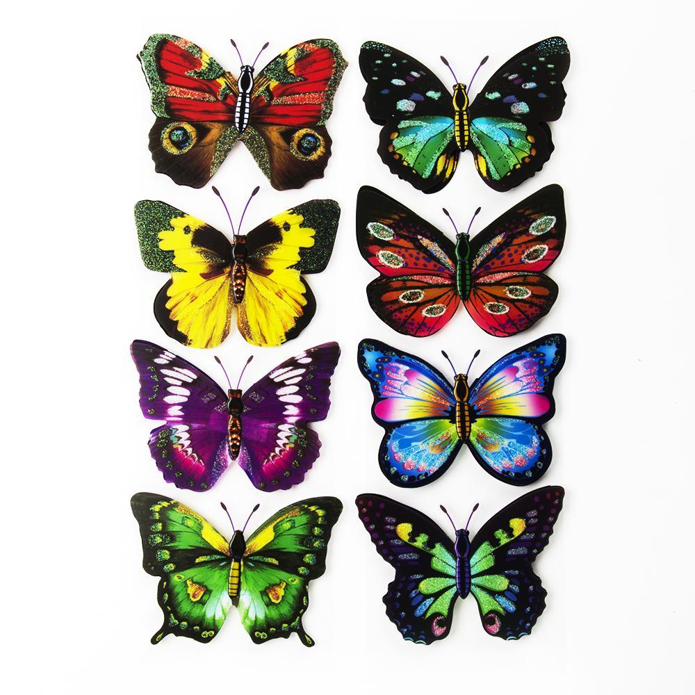 Набор наклеек с бабочками 40-13см