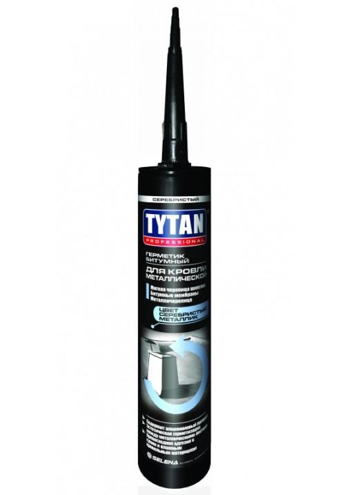 Герметик Титан для кровли битумный серебритый 310мл