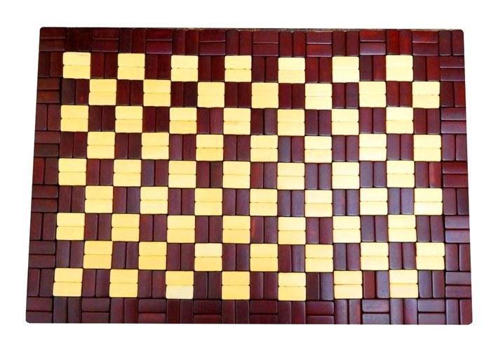 Коврик-сидушка бамбук 0,45 х 0,3 м ШАХМАТЫ