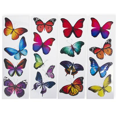 Наклейки Кросата-бабочек 40-13см