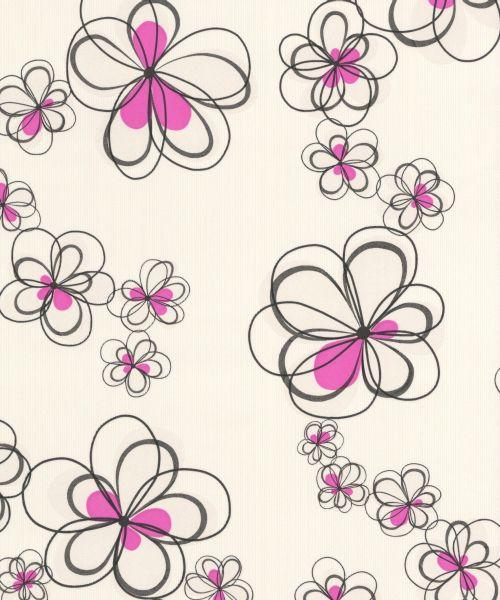 355-15 ОБОИ 1,06*10 м флиз горяч тисн  Цветы бел-роз