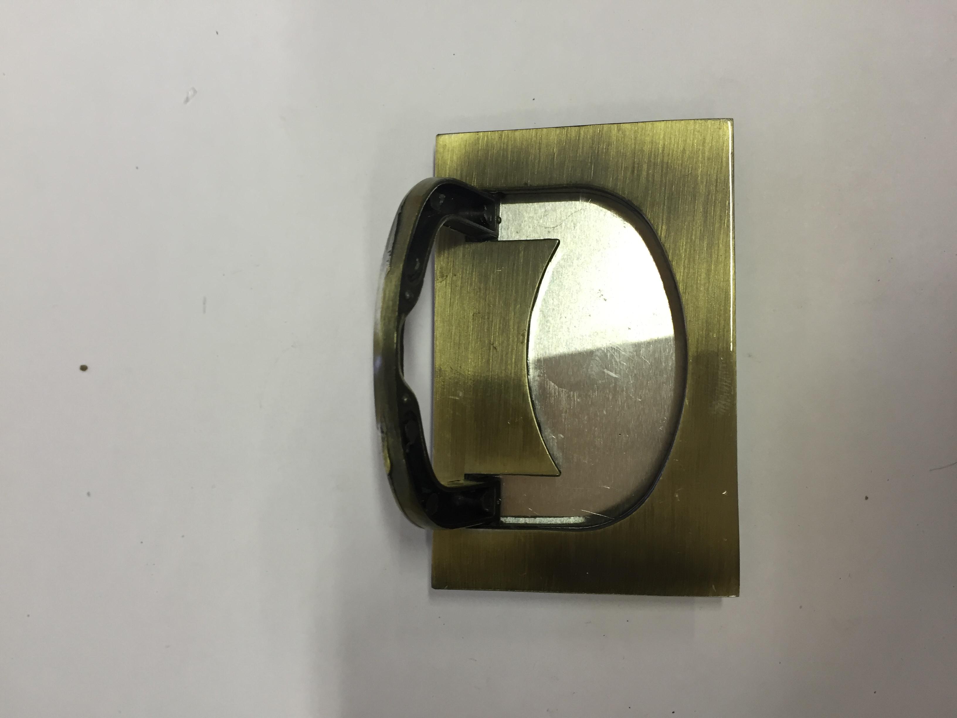 Ручка мебельная потайная бронза