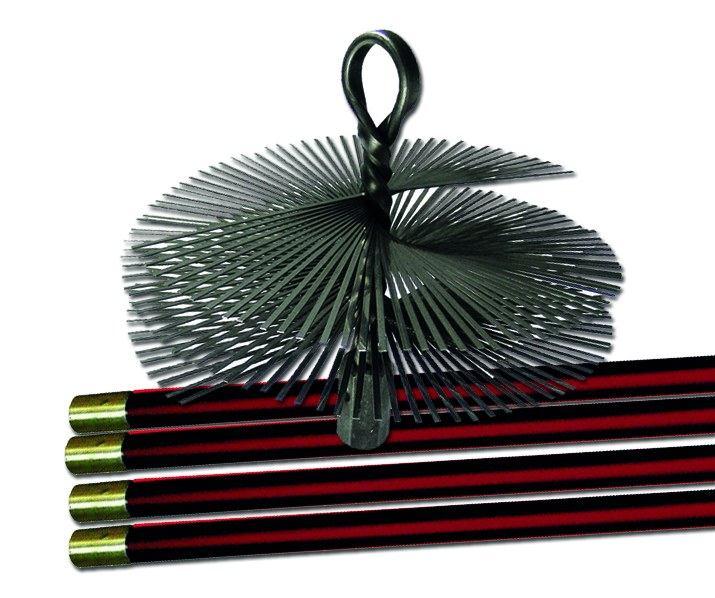 Набор для чистки дымохода 250мм со стальной щеткой (2960р.)