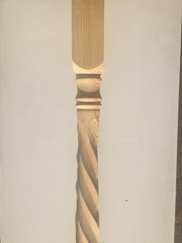 Столб заходной сосна 1200х100х100 мм (Т10)