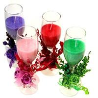 Свеча в стекляном бокале с декором