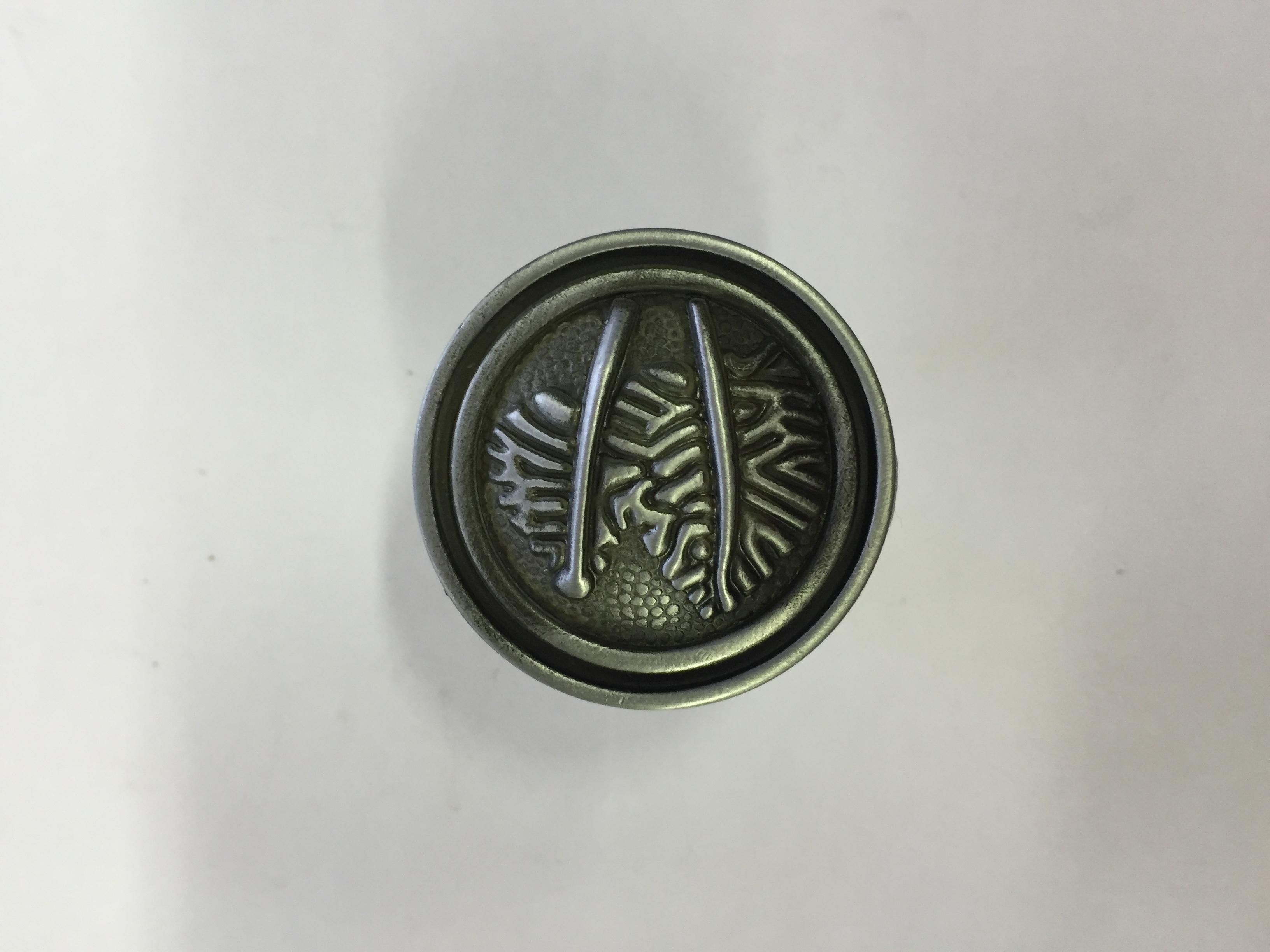 Ручка-кнопка Лист сатин