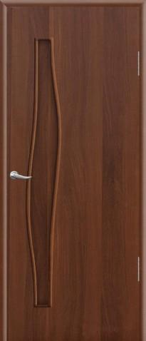 """Дверное полотно ламинированное ДПГ 0,8х2,0 итальянский орех """"Волна"""""""