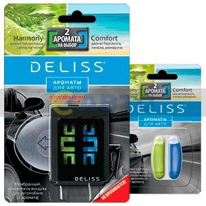 Мембранный освежитель для авто DELISS 4мл+2аром.