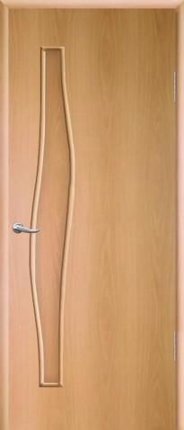 """Дверное полотно ламинированное ДПГ 0,8х2,0 миланский орех """"Волна"""""""